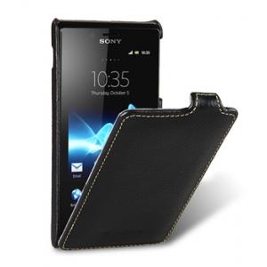 Кожаный чехол Melkco Leather Case для Sony Xperia J - Jacka Type - черный