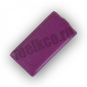 Кожаный чехол Melkco Leather Case для Sony Xperia J - Jacka Type - сиреневый