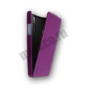 Кожаный чехол Melkco Leather Case для Sony Xperia S - Jacka Type - сиреневый