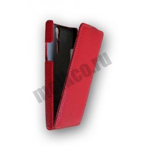 Кожаный чехол Melkco Leather Case для Sony Xperia S - Jacka Type - красный