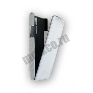 Кожаный чехол Melkco Leather Case для Sony Xperia S - Jacka Type - белый