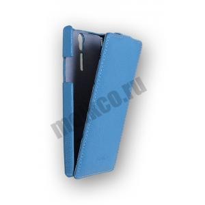Кожаный чехол Melkco Leather Case для Sony Xperia S - Jacka Type - синий