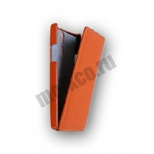 Кожаный чехол Melkco Leather Case для Sony Xperia S - Jacka Type - оранжевый