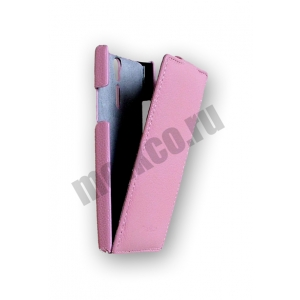 Кожаный чехол Melkco Leather Case для Sony Xperia S - Jacka Type - розовый
