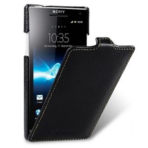 Кожаный чехол Melkco Leather Case для Sony Xperia S - Jacka Type - чёрный