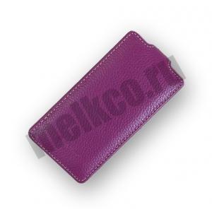 Кожаный чехол Melkco Leather Case for Sony Xperia TX / LT29i - Jacka Type - сиреневый