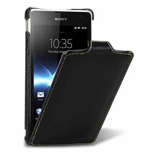 Кожаный чехол Melkco Leather Case for Sony Xperia TX / LT29i - Jacka Type - черный