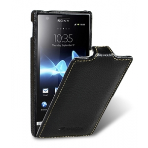 Кожаный чехол Melkco для Sony Xperia U - Jacka Type - чёрный