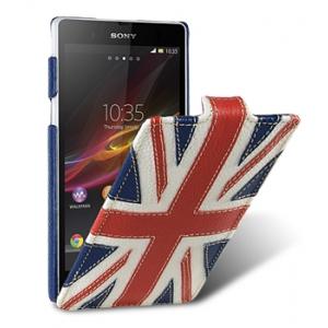 Кожаный чехол Melkco для Sony Xperia Z - Craft Edition Jacka Type - флаг Великобритании