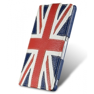 Кожаный чехол Melkco для Sony Xperia ZL - Craft Edition Jacka Type - флаг Великобритании