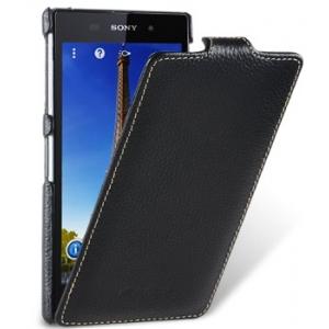 Кожаный чехол книжка Melkco для Sony Xperia i1 / Honami - Jacka Type - чёрный