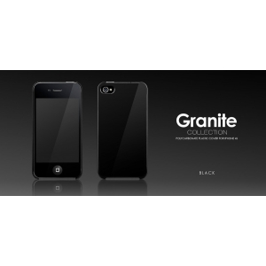 Пластиковый чехол More Granite Collection для Apple iPhone 4/4S - черный