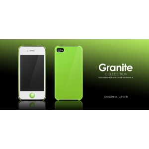 Пластиковый чехол More Granite Collection для Apple iPhone 4/4S - зеленый