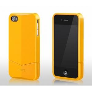Пластиковый чехол More Racer GT Collection для Apple iPhone 4/4S - желтый
