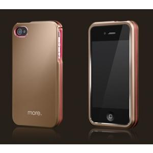 Металлический чехол More Armor Metal Hybrid Case для Apple iPhone 4/4S - золотой