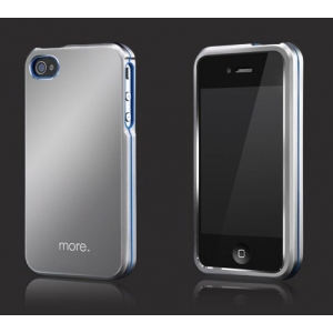 Металлический чехол More Armor Metal Hybrid Case для Apple iPhone 4/4S - серебристый