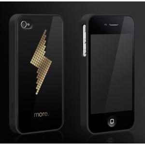 """Пластиковый чехол Cubic Black Exclusive для iPhone 4/4S - """"Молния"""""""