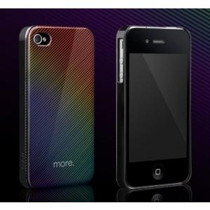 Пластиковый защитный чехол More Duplex Hologram для Apple iPhone 4/4S - черный