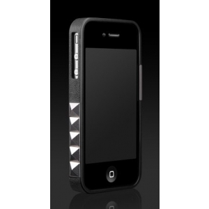 Бампер More Glam Rocka Metal Jelly Ring для iPhone 4 / 4S - чёрный