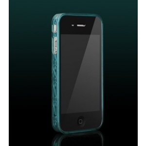 Бампер More Trinity Polymer Jelly Ring для iPhone 4 - Turquiose