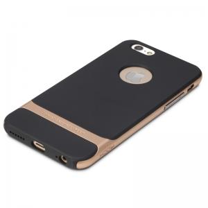 """Силиконовый чехол Rock Royce Series для Apple iPhone 6/6S (4.7"""") - черно-золотистый"""