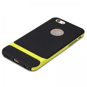 """Силиконовый чехол Rock Royce Series для Apple iPhone 6/6S (4.7"""") - черно-желтый"""
