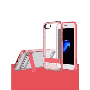 Двухкомпонентный TPU-PC чехол накладка с подставкой Royce Kickstand Active для Apple iPhone 7/8 - розовый