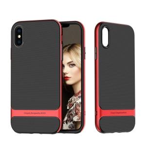 Двухкомпонентный силиконовый TPU-PC чехол Rock Royce Series для iPhone Xs Max - красный