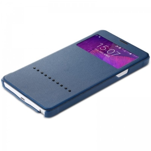 Чехол книжка Rock Rapid Series для Samsung Galaxy Note 4 - синий