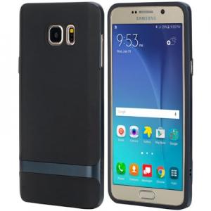 Силиконовый чехол Rock Royce Series для Samsung Galaxy Note 5 - черно-темно-синий
