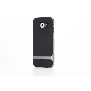 Силиконовый чехол Rock Royce Series для Samsung Galaxy S6 - черно-серый