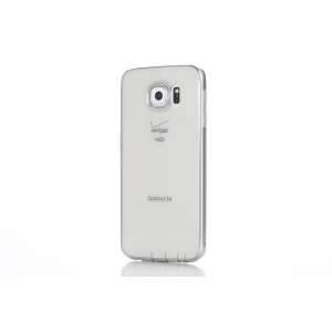 Силиконовый чехол Rock Ultra Thin Slim Jacket для Samsung Galaxy S6 - прозрачный черный