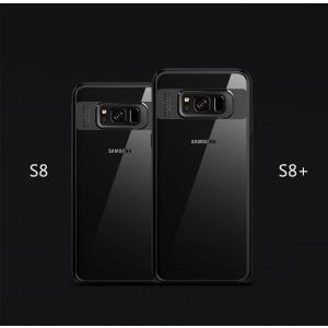 Двухкомпонентный силиконовый TPU-PC чехол Rock Clarity Series для Samsung Galaxy S8 - черный