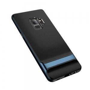 Двухкомпонентный силиконовый TPU-PC чехол Rock Royce Series для Samsung Galaxy S9 - черно-синий