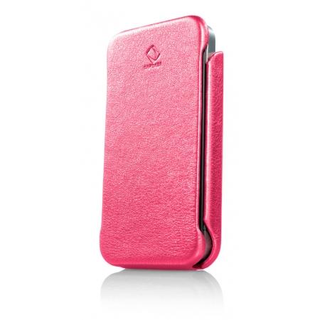 Кожаный чехол книжка Capdase Capparel Protective Case для Apple iPhone 4/4S - розовый