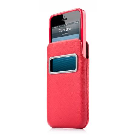 Комплект чехлов CAPDASE для Apple iPhone 5/5S / iPhone SE id Pocket Value Set LUXE XL - цвет красный