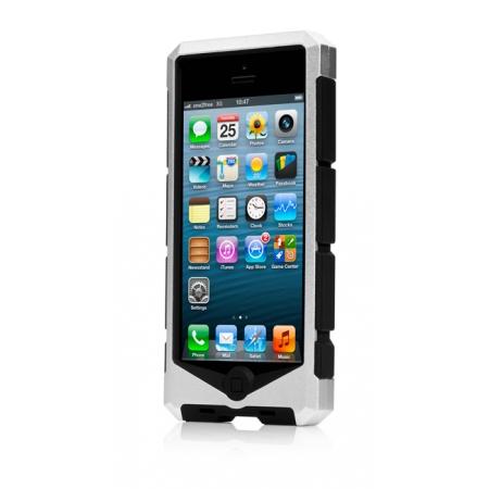 Противоударный чехол Capdase Ryder Jacket-Boomerang для Apple iPhone 5/5S / iPhone SE - черно-серебристый