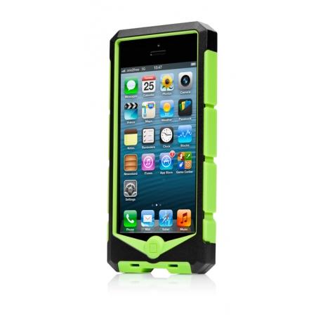 Противоударный чехол Capdase Ryder Jacket-Boomerang для Apple iPhone 5/5S / iPhone SE - черно-зеленый