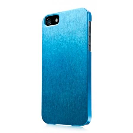 Пластиковый чехол CAPDASE Karapase Jacket SILVA SATIN для Apple iPhone 5/5S / iPhone SE - голубой