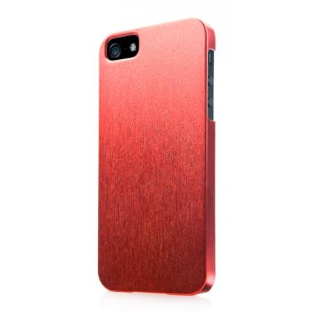 Пластиковый чехол CAPDASE Karapase Jacket SILVA SATIN для Apple iPhone 5/5S / iPhone SE - красный
