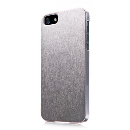 Пластиковый чехол CAPDASE Karapase Jacket SILVA SATIN для Apple iPhone 5/5S / iPhone SE - серебристый