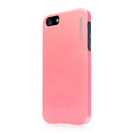 Перламутровый пластиковый чехол CAPDASE Karapase Jacket для Apple iPhone 5/5S / iPhone SE - Pearl - розовый