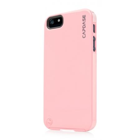 Силиконовый чехол с пластиковым покрытием CAPDASE Polimor Jacket для Apple iPhone 5/5S / iPhone SE - розовый