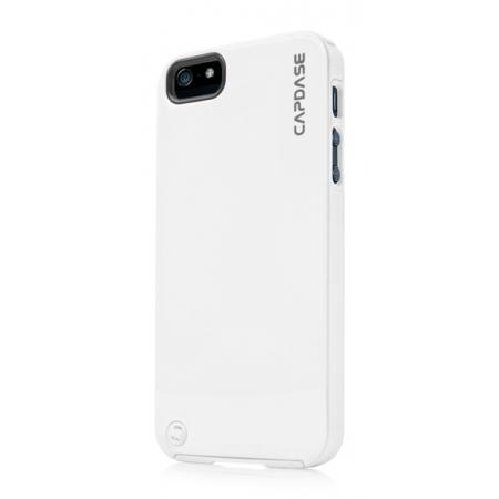 Силиконовый чехол с пластиковым покрытием CAPDASE Polimor Jacket для Apple iPhone 5/5S / iPhone SE - белый