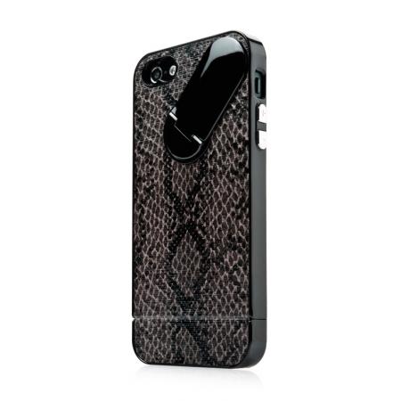 Пластиковый чехол CAPDASE Snap Jacket – Snak для Apple iPhone 5/5S / iPhone SE - черный
