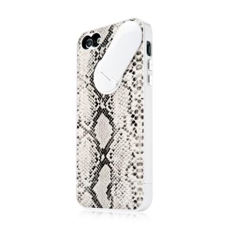 Пластиковый чехол CAPDASE Snap Jacket – Snak для Apple iPhone 5/5S / iPhone SE - белый