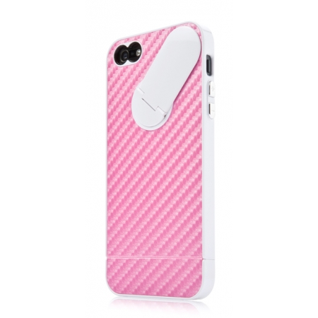 Пластиковый чехол CAPDASE Snap Jacket Graphite для Apple iPhone 5/5S / iPhone SE - розовый