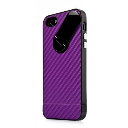 Пластиковый чехол CAPDASE Snap Jacket Graphite для Apple iPhone 5/5S / iPhone SE - сиреневый