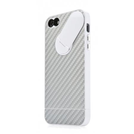 Пластиковый чехол CAPDASE Snap Jacket Graphite для Apple iPhone 5/5S / iPhone SE - серебристый