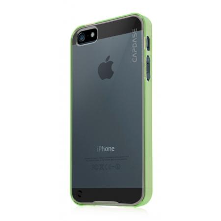 Силиконовый чехол CAPDASE Soft Jacket Fuze DS для Apple iPhone 5/5S / iPhone SE - зеленый